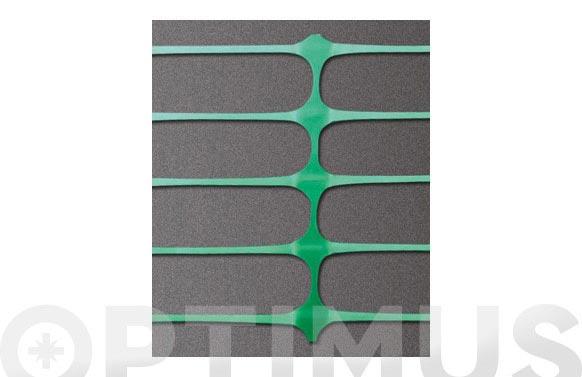 Malla señalizacion mini rollo 10 m x 100 cm verde
