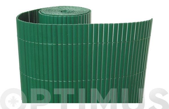 Cañizo sintetico pvc caña doble cara 30mm 1 x 3mt verde