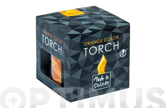 Antorcha llama color con citronela naranja