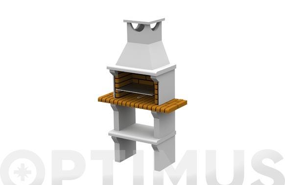 Barbacoa ladrillo pequeña 'malaga' con minibancada h 195 x 105 x 48 cm