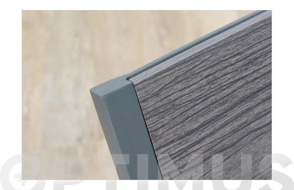Sillon aluminio dark lamas efecto madera
