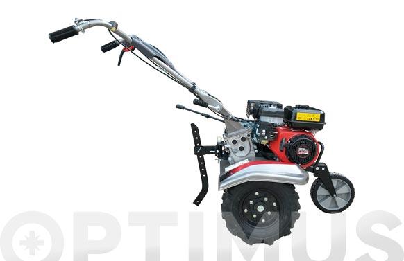 Motoazada gasolina 4t 6,5hp asurcador y ruedas '50 marcha 2+1