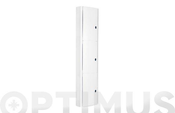 Armario de baño vertical blanco 22x10,5x90,5