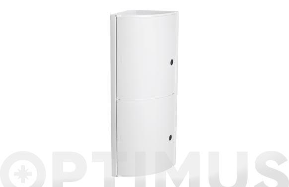 Armario de baño rinconero blanco 19 x 19 x62,5 cm