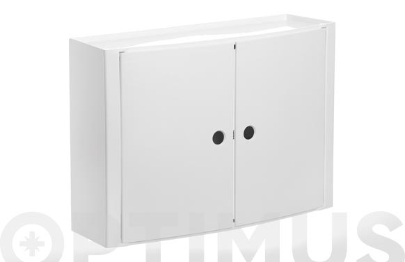 Armario de baño horizontal blanco 46 x 15,5 x 32 cm