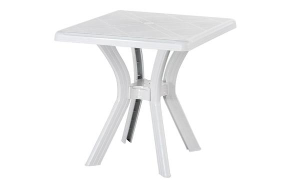 Mesa cuadrada 75x75 cm daito blanco