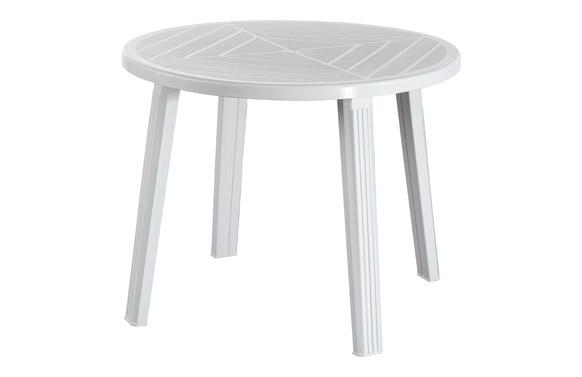 Mesa redonda cristobal/giove blanco ø 90 cm