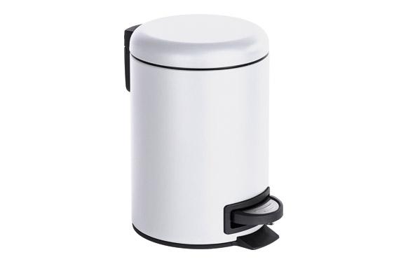 Cubo de pedal leman blanco 3 l