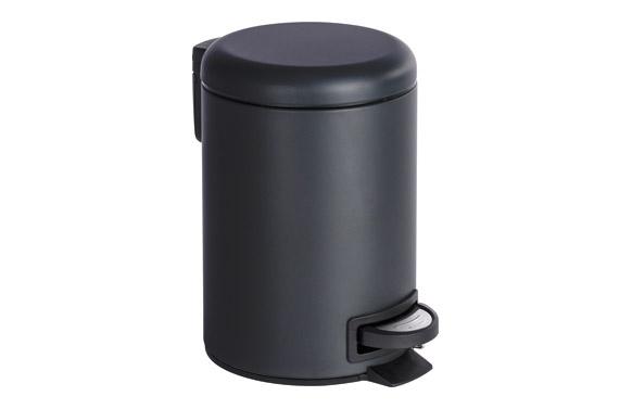 Cubo de pedal leman negro 3 l