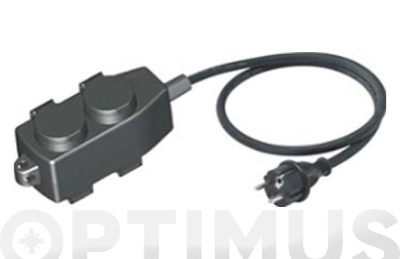 Prolongador electrico 5 m. / 3 x 1,5 / base aerea ip44 con proteccion termica e infantil