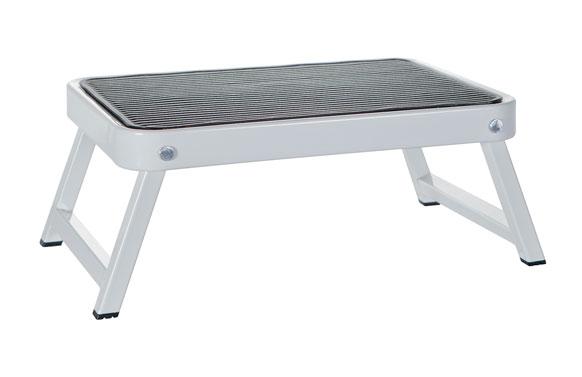 Taburete plataforma 1step 38x16x26 cm blanco