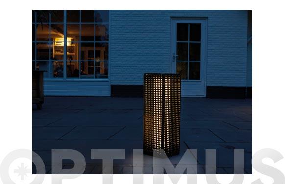 Lampara solar decorativa 30 lumens martinique-15,5x15,5x47 cm