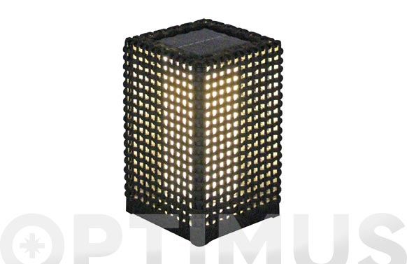 Lampara solar decorativa 30 lumens martinique-15,5x15,5x47 cm
