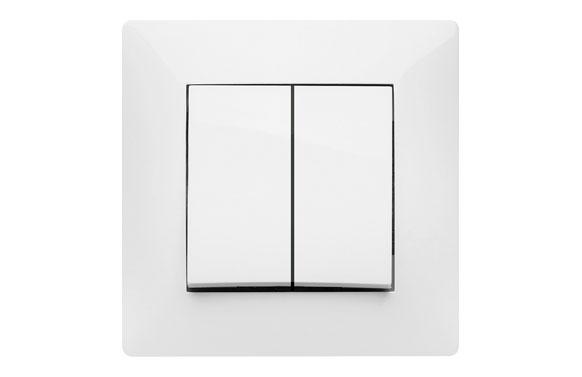Doble conmutador 10a habitat15 blanco