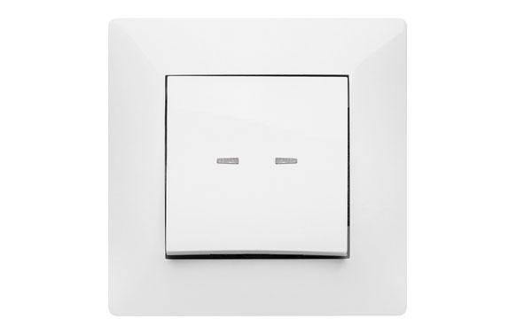 Pulsador luminoso habitat15 blanco
