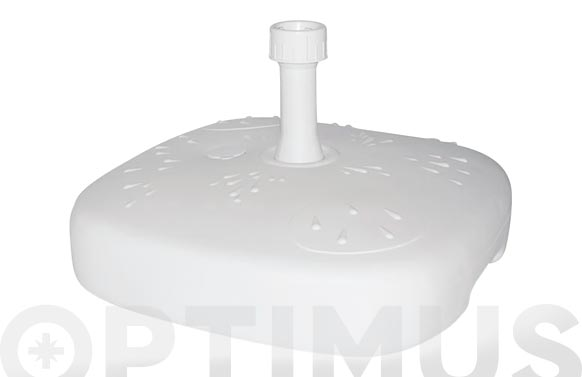 Pie parasol rellenable mercurio 20 l ø 19-33 mm blanco