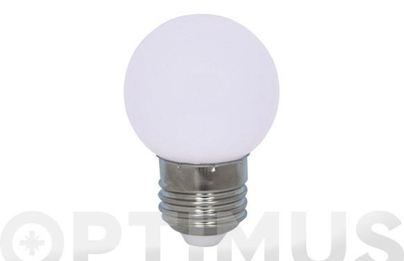 Lampara mini esferica deco 0,9w e27 blanco