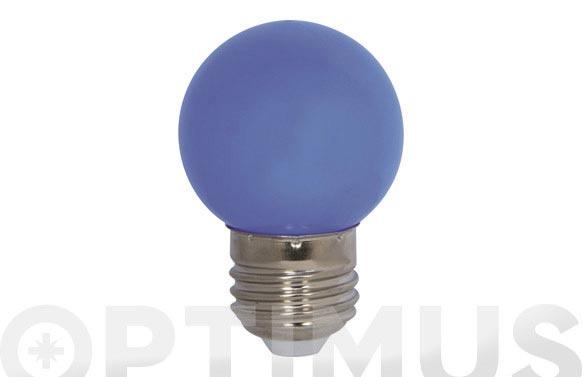 Lampara mini esferica deco 0,9w e27 azul