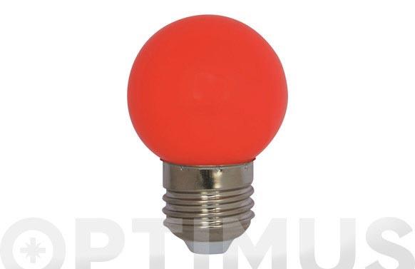 Lampara mini esferica deco 0,9w e27 roja