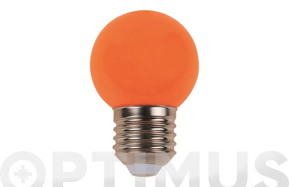 Lampara mini esferica deco 0,9w e27 naranja