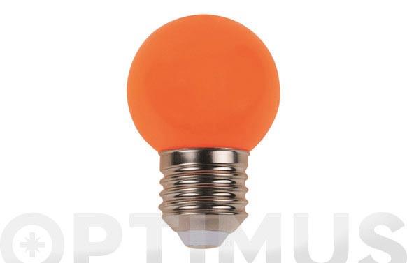 Lampara mini esferica deco 0,9w e27 naranja