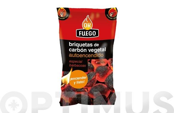 Briqueta carbon autoencendido 1,5 kg