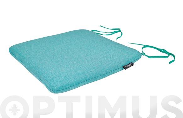 Cojin asiento green azul turquesa 40 x 40 x 6 cm