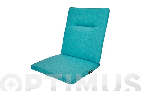 Cojin silla + respaldo green azul turquesa 87 x 44 x 6 cm