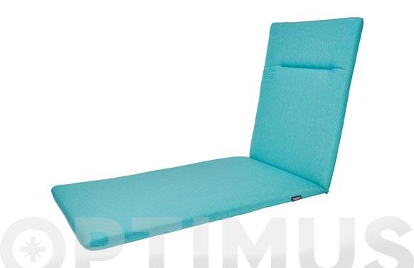 Cojin tumbona green azul turquesa 188 x 60 x 6 cm