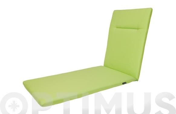 Cojin tumbona green verde lima 188 x 60 x 6 cm