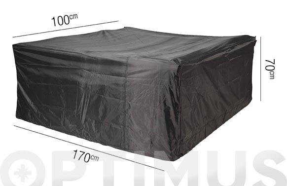 Funda mesa rectangular pequeña aerocover 170 x 100 x h 70 cm