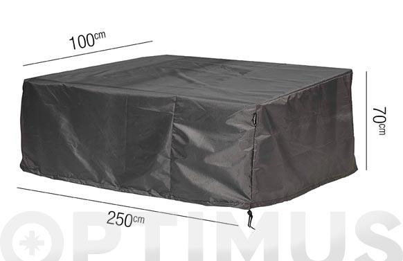 Funda sofa 3 plazas aerocover 250 x 100 x h 70 cm