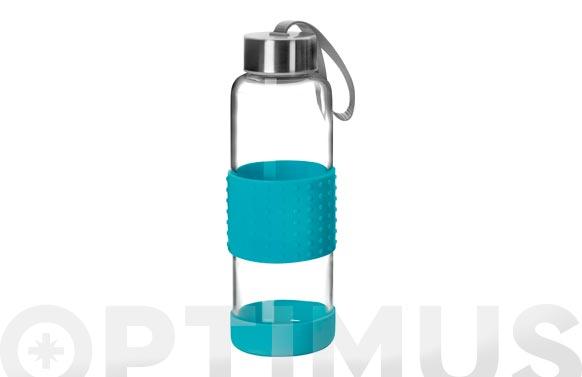 Botella vidrio + silicona azul 0,36 l