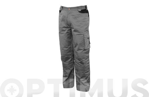 Pantalon stretch monocolor gris t xl