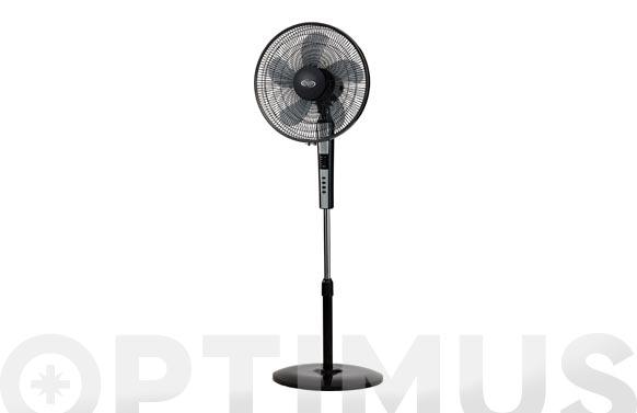 Ventilador pie 'standy' ø40cm 65w con mando negro - 5 aspas
