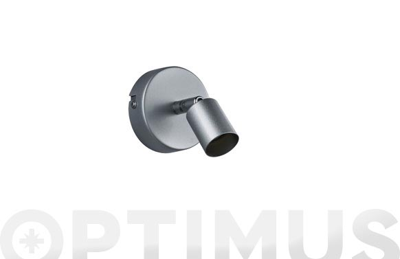 Foco gu10 paris sin bombilla gris aluminio