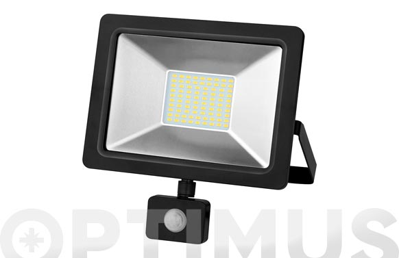 Foco proyector con sensor led 10 w 6500 k 900 lm ip65