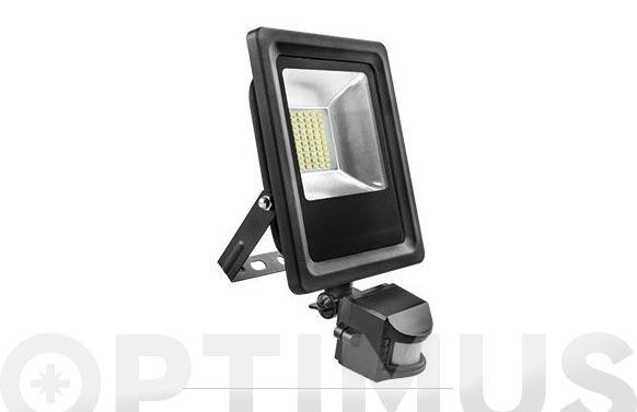 Foco proyector con sensor led 30 w 6500 k 2700 lm ip65