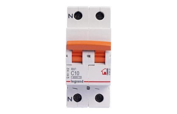 Magnetotermico rx3 p + n 10a-p/naranja