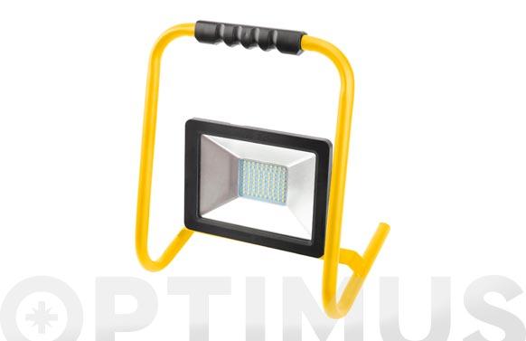 Foco proyector led con soporte 30w luz fria 3000 lumens