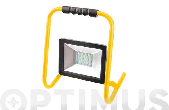 Foco proyector led con soporte 50 w luz fria 5000 lumens