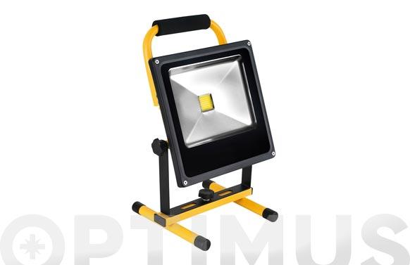 Foco proyector led recargable con soporte 10 w luz fria 700 lm ip65