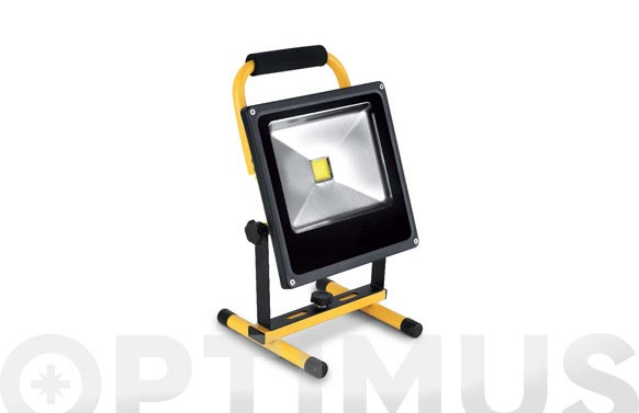 Foco proyector led recargable con soporte 20 w luz fria 1200 lumens