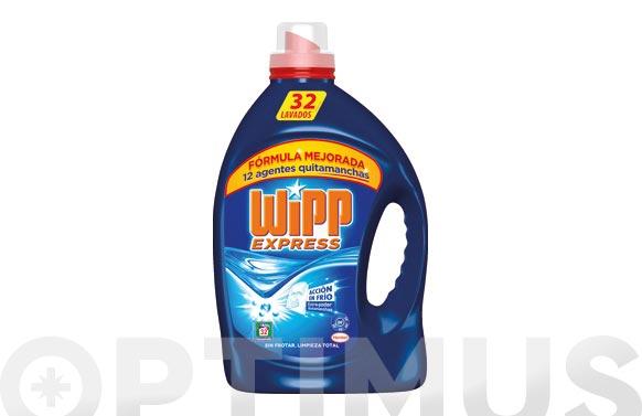 Detergente wipp express gel azul 30 dosis