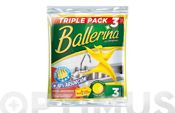 Bayeta ballerina amarilla (3 uds)