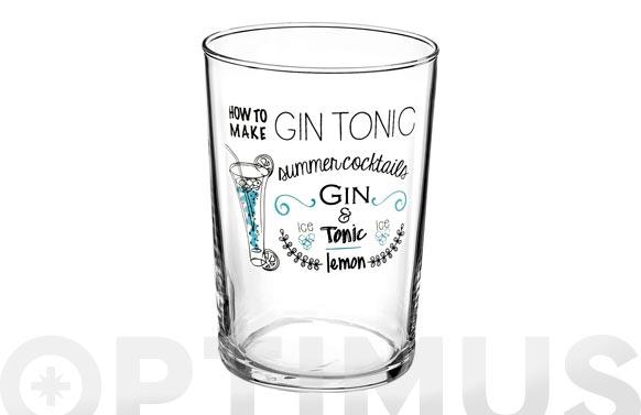 Vaso gin bodega decorado 50 cl