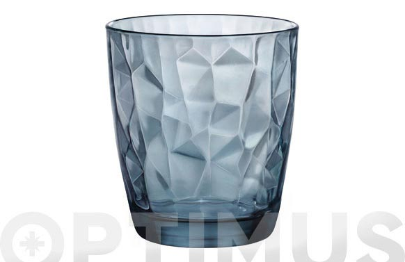 Vaso diamond tensionado azul 30 cl