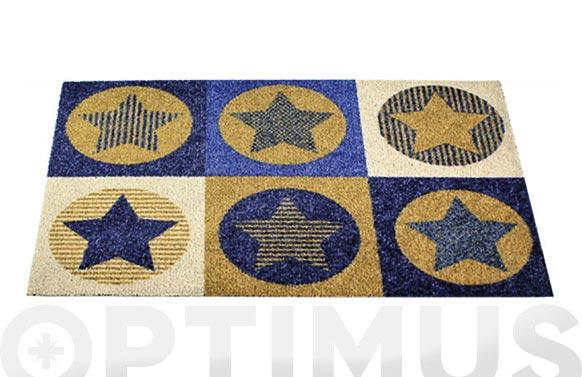 Felpudo coco estampado 50x75 topo estrellas
