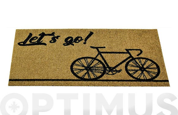 Felpudo coco estampado bici 40 x 75 cm