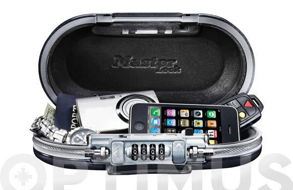 Caja seguridad personal portatil 60x240x129 mm